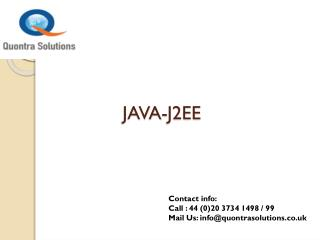 Java J2EE Online Training Course