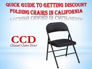 Quick Guide to Getting Discount Folding Chairs in California