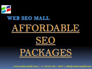 Affordable SEO Packages � Web SEO Mall