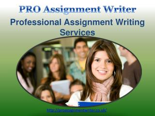 Professional Assignment Writing Services in UK