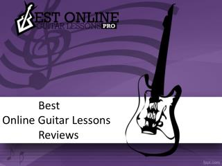 Best Online Guitar Lessons Reviews