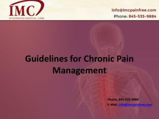Guidelines for Chronic Pain Management