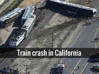 Train crash in California