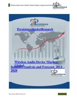 Wireless Audio Device Market: Global Industry Analysis