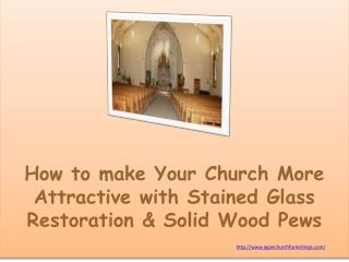 How to make Your Church More Attractive with Stained Glass R