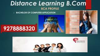 Distance Learning Education b.com in Delhi -NCR