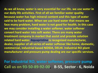 water softener manufacturer india, industrial ro plant delhi