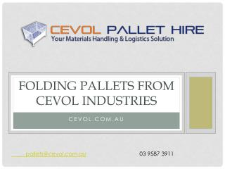 Folding Pallets from Cevol Industries