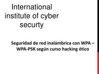 Seguridad de red inalambrica con WPA –WPA-PSK segun curso ha
