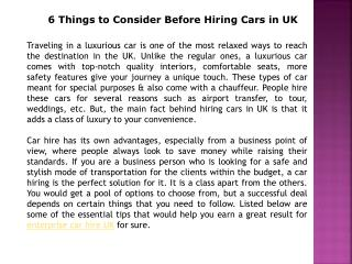 Enterprise Car Hire UK