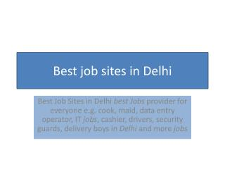 Best Job Consultants in Delhi