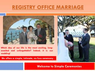 Registry Office Wedding
