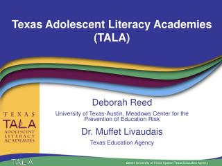 Texas Adolescent Literacy Academies TALA