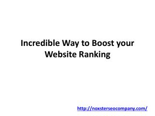 Incredible Way to Boost your Website Ranking