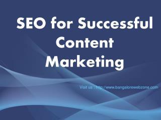 SEO for Successful Content Marketing