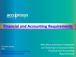 Financial and Accounting Services - Accuprosys