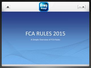 FCA RULES 2015