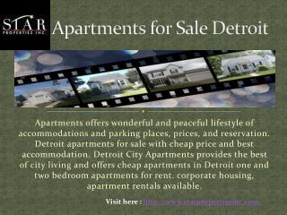 Apartments for Sale Detroit