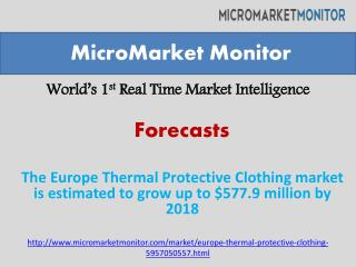 The Europe Thermal Protective Clothing market