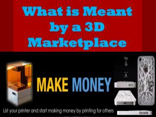 What is meant by a 3D marketplace