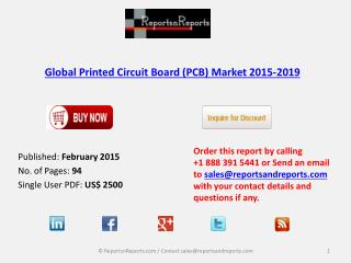 New Report on Global Printed Circuit Board Market 2015-2019