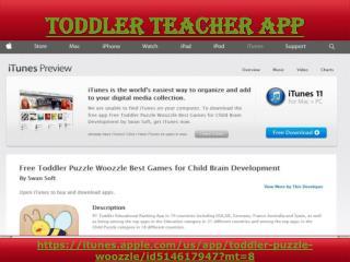 Toddler teacher app