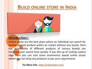 Build Online Store India