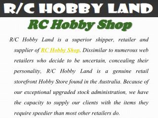 Excellent Store of Hobby Tools in Australia