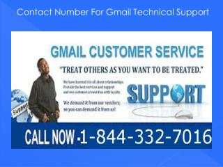 Gmail Technical Support 1-844-332-7016 for Technical Issues