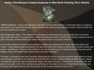 Author Gina Benyue Creates Suspense in New Book Chasing