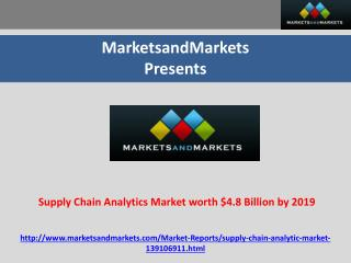 Supply Chain Analytics Market worth $4.8 Billion by 2019