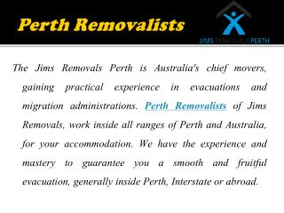 Easy Shifting with Excellent Removal Services in Perth