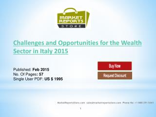 Wealth Sector in Italy 2015: Market Research Report