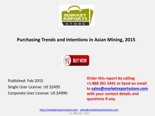 Intentions and Purchasing Trends in Asian Mining 2015