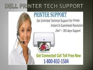 Dell Printer Tech Support 1-800-832-1504 | USA