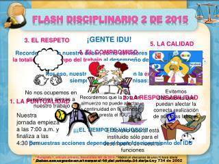 FLASH DISCIPLINARIO
