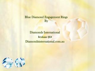 Blue Diamond Engagement Ring from Diamonds Internation
