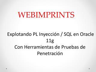 Explotando PL Inyeccion / SQL en Oracle 11g Con Herramientas