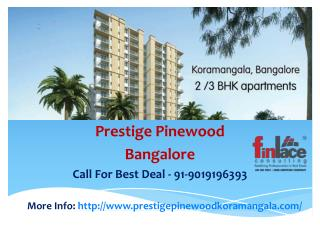 Prestige Pinewood, Prestige Pinewood Koramangala Bangalore