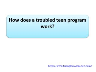 How does a troubled teen program work?