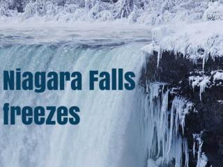 Niagara Falls freezes