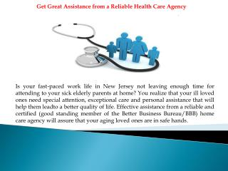 Get Valuable Assistance from a Reliable Home Health Care Age
