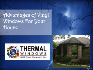 Advantages of Vinyl Windows For Your House