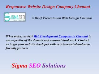 Responsive Website Design Company Chennai