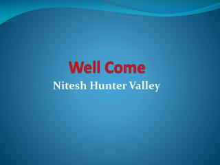 Nitesh Hunter Valley