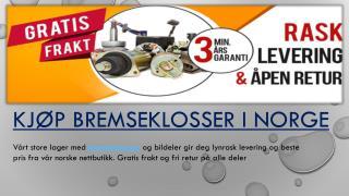 Kjøp bremseklosser i Norge