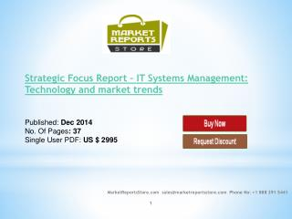 IT Systems Management: Technology and market trends