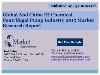 Global And China IH Chemical Centrifugal Pump Industry 2015
