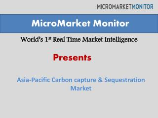 Asia Pacific Carbon capture & Sequestration market