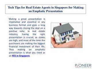 Tech Tips for Real Estate Agents in Singapore for Making an